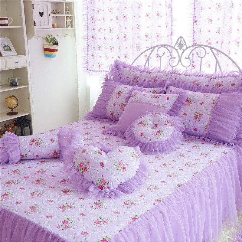 Rey Queen Room Tamaño de encaje princesa ropa de cama para niños ...
