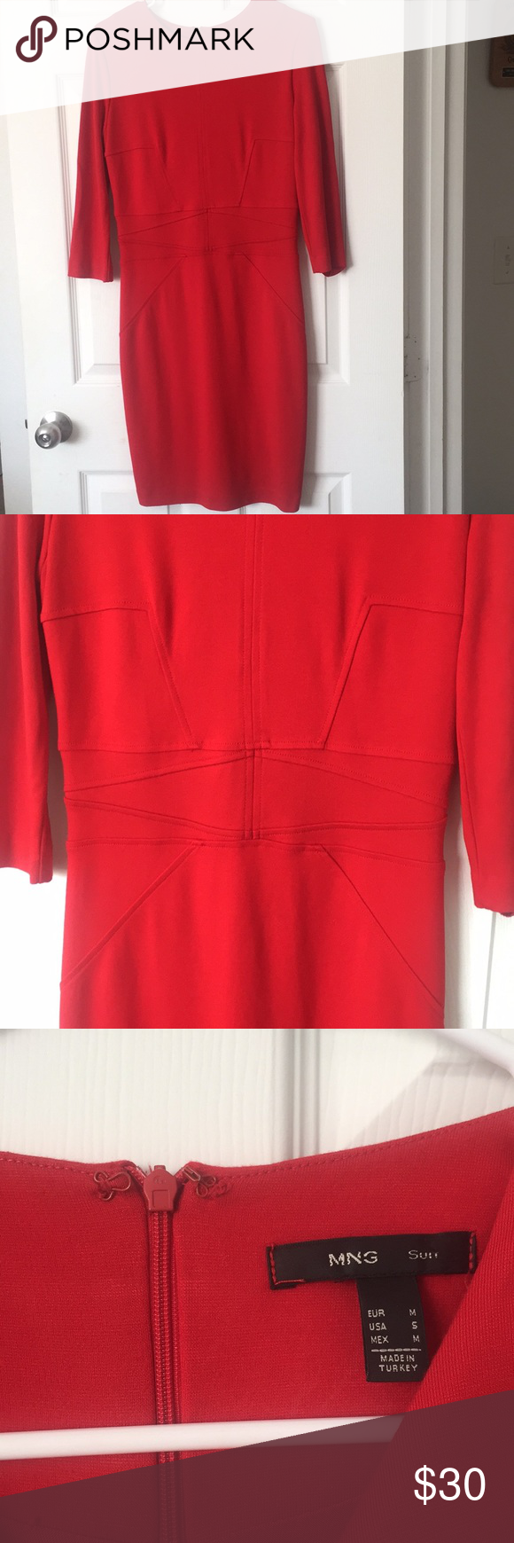 MNG red dress MNG suit Size small Made in Turkey Fits to the