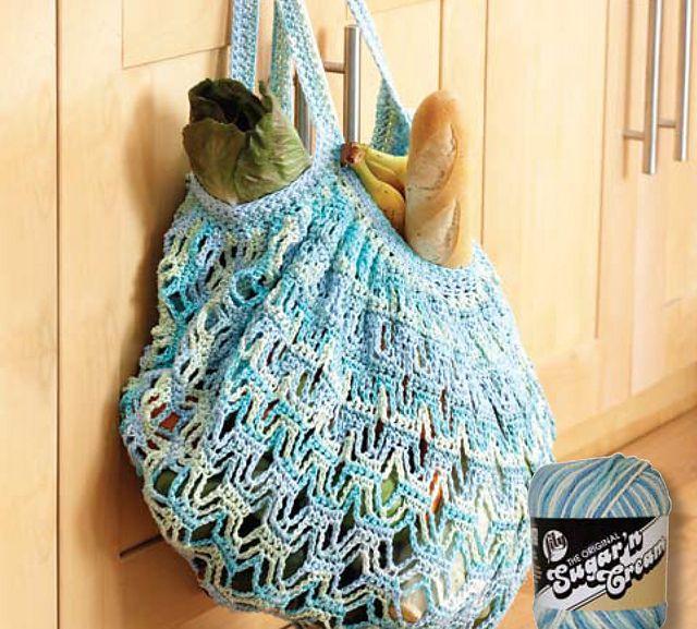 Market Bag Crochet Pattern By Lily Sugarn Cream Knit Crochet