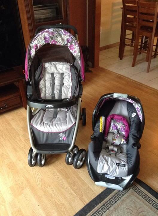 Purple Flower Stroller And Car Seat Combo Baby Car Seats Car