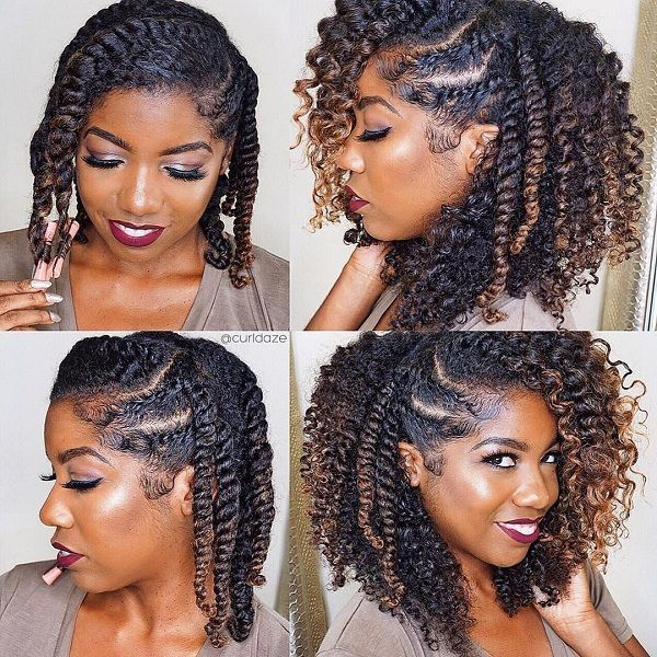 Natural Protective Hairstyles Ombre Natural Protective Hairstyle Loose Strand Twist & Twistouts