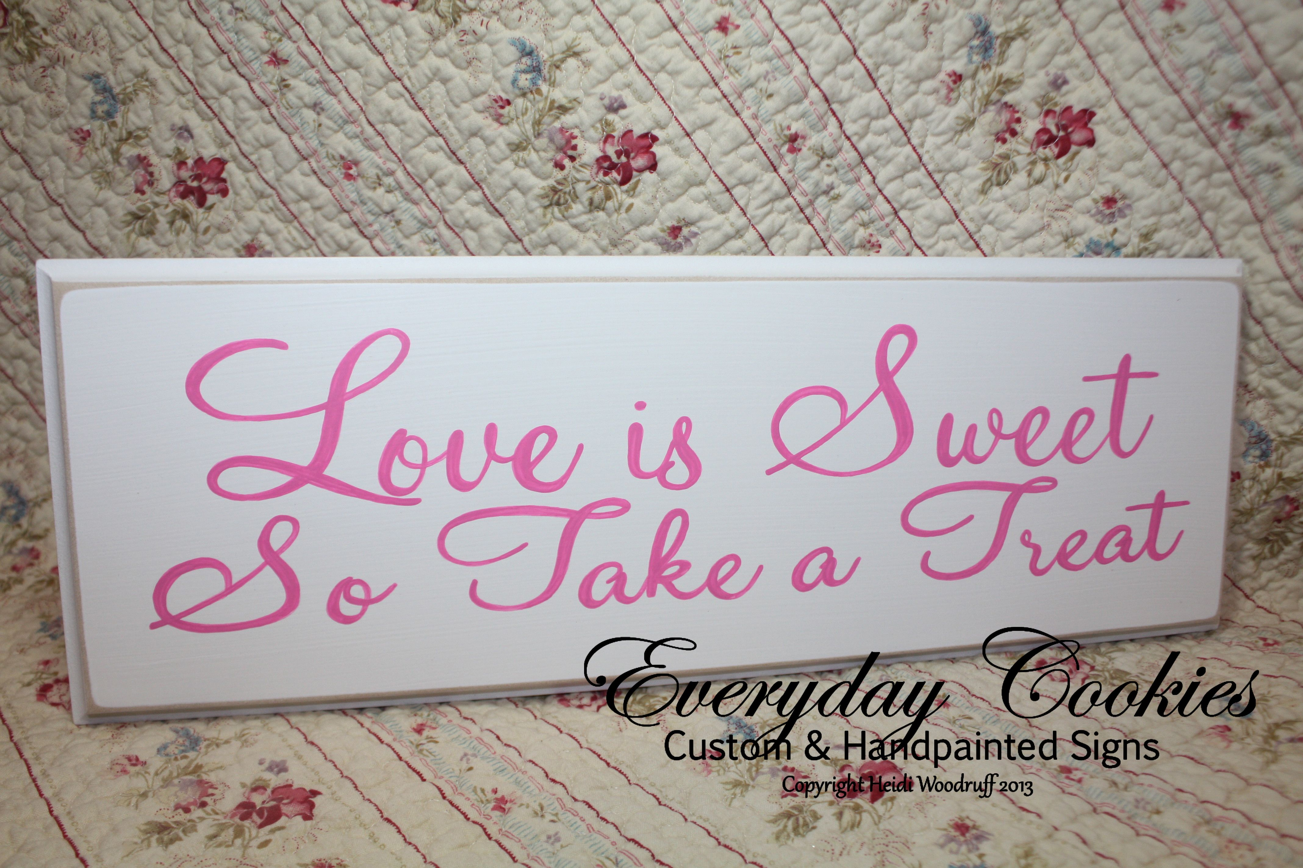 love is sweet take a treat sign candy bar sign wedding sign reception sign style02  SKU: LNWS03B love is sweet take a treat sign