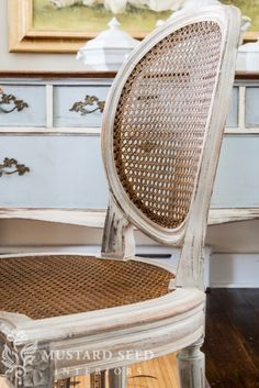 our chair inspiration. miss mustard seed's gorgeous two tone cane