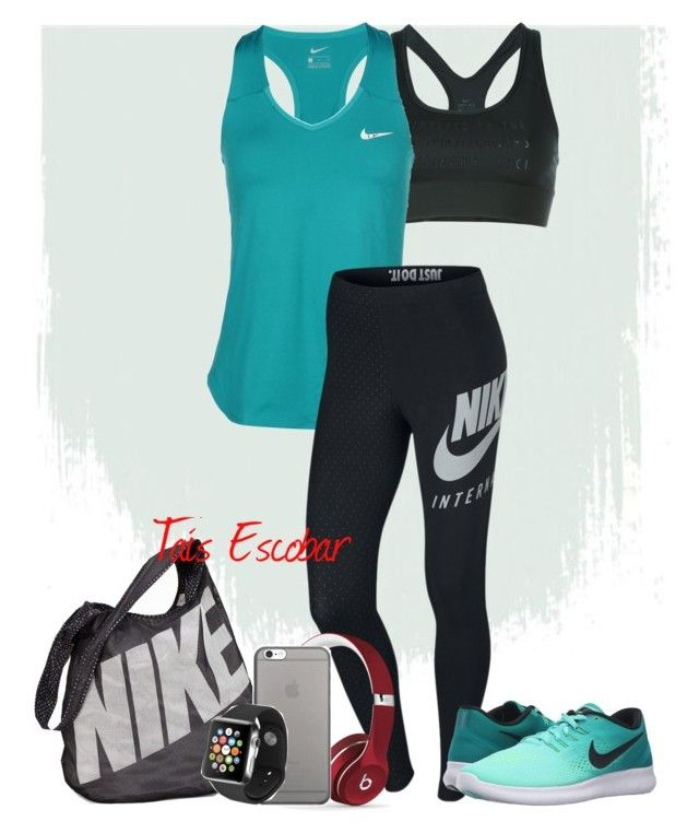 """Gym look! "" by tais-escobar ❤ liked on Polyvore featuring NIKE, Beats by Dr. Dre, Native Union and Apple"