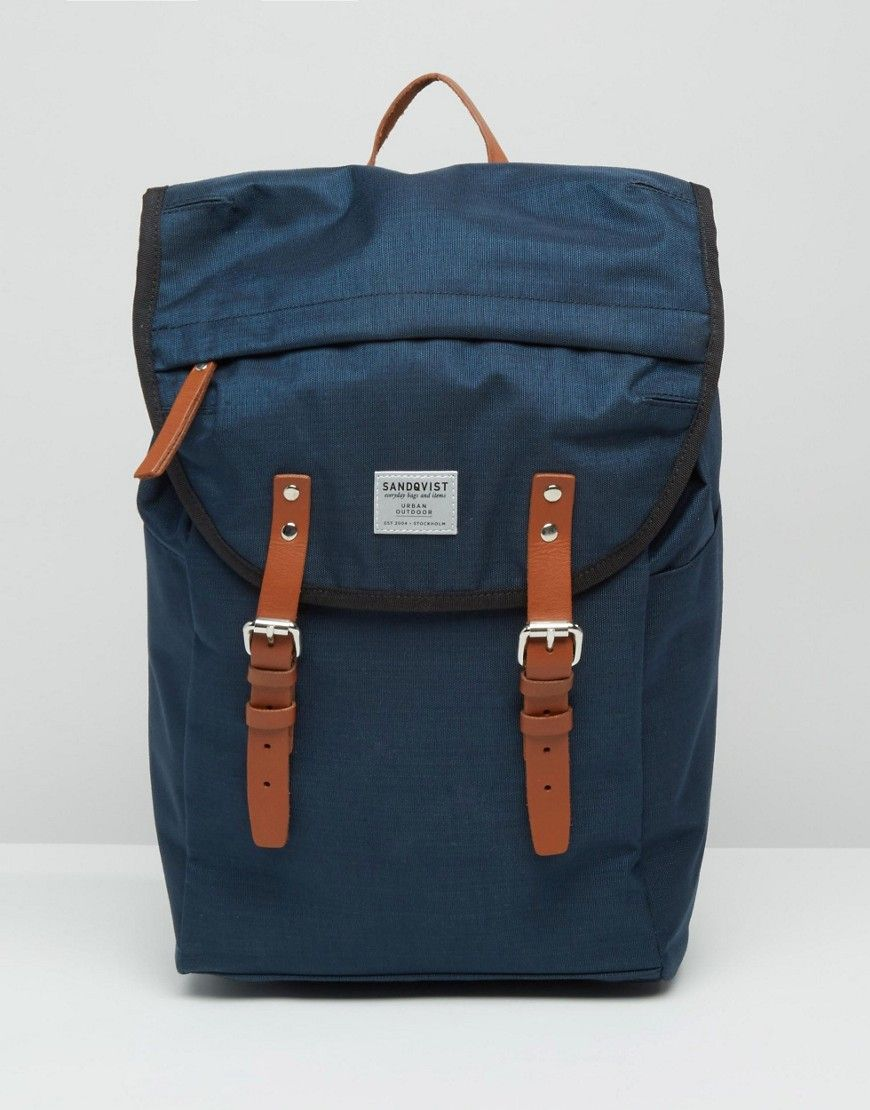 31de02cda030 SANDQVIST HANS CORDURA BACKPACK IN BLUE - BLUE.  sandqvist  bags  leather   nylon  backpacks