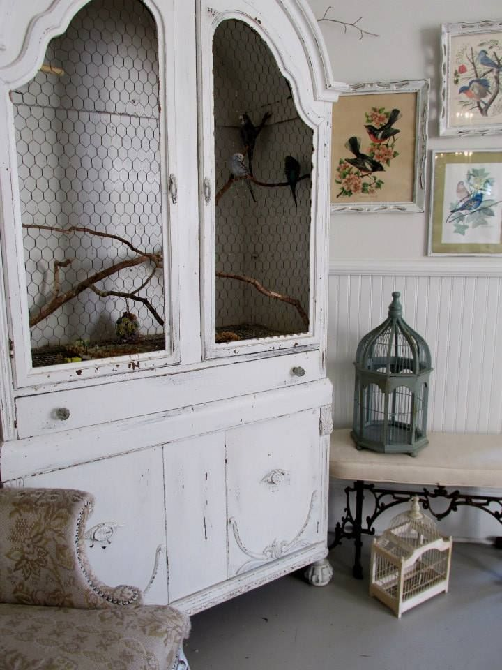 17 Ways To Repurpose an Antique Armoire   Bird aviary, Armoires and ...