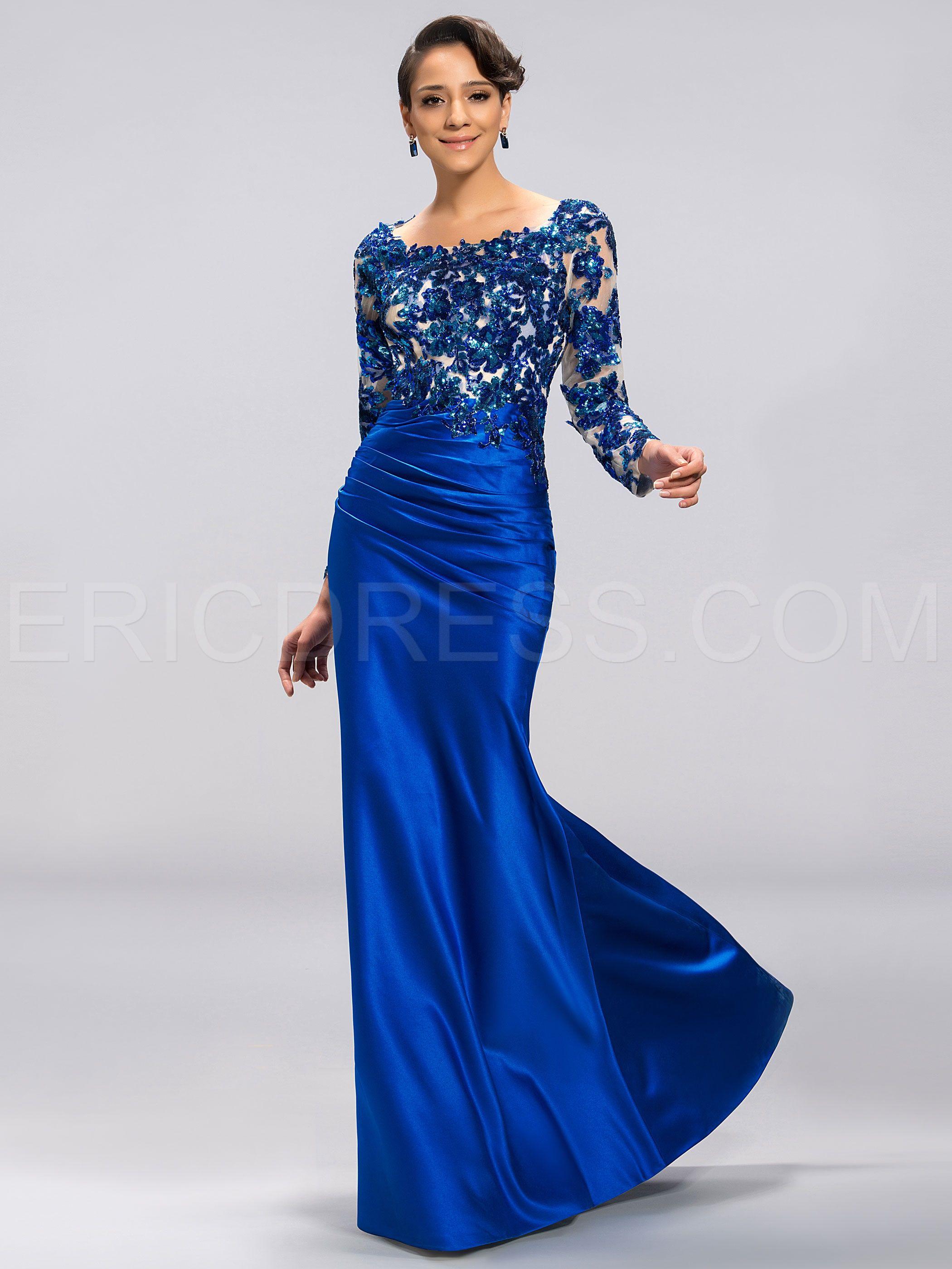 10729c0b686 Elegant Scoop Long Sleeves Appliques Backless Evening Dress Vintage Evening  Dresses- ericdress.com 11052961