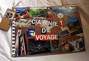 carnet de voyage cartonn textes expressifs pinterest scrapbooking scrap and journal. Black Bedroom Furniture Sets. Home Design Ideas