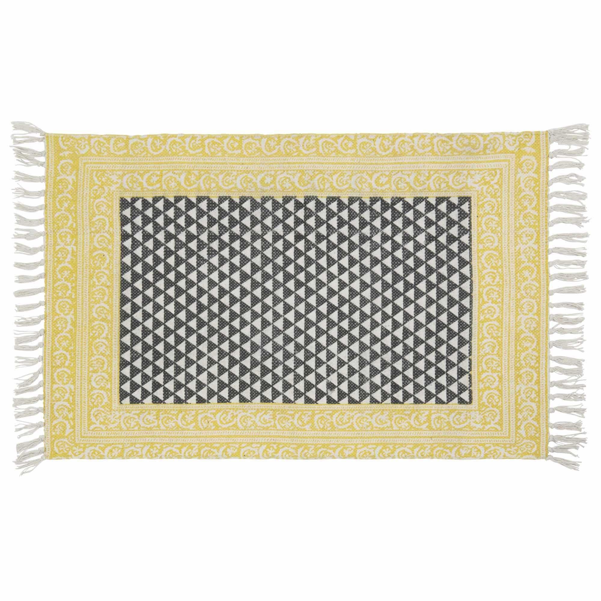 Baumwollteppich weiß  Baumwollteppich schwarz/weiß 60 x 90 cm MEDAN | Liz - guest Bath ...