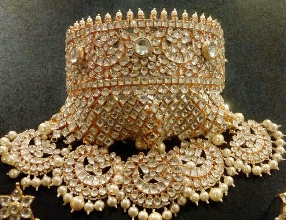 Beautiful jadau kundan brod aad.. | Royal jewels | Pinterest ...
