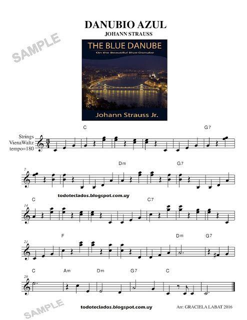 Danubio Azul Johann Strauss El Danubio Azul Partituras Musica Partituras