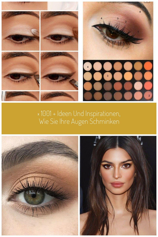 Augen Make Up Anleitung Alltags Make Up Selber Machen Brauner Lidstrich Auftragen Brown Eye 1001 I In 2020 Make Up Augen Braune Eyeliner Augen Make Up Anleitung