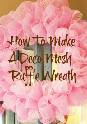 How To Make A Curly Deco Mesh Wreath #decomeshwreaths