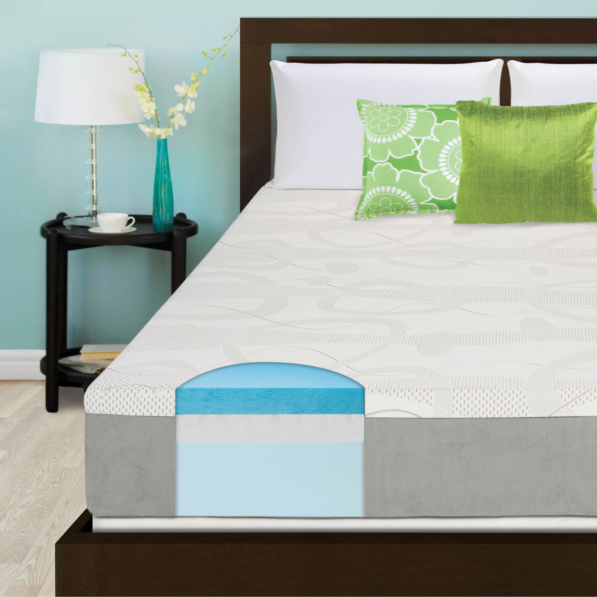 Slumber Solutions Choose Your Comfort 10 Inch Gel Memory Foam Mattress Foam Mattress Mattress Queen Memory Foam Mattress