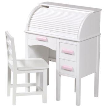 Guidecraft Jr Roll Top Desk Amp Chair Set White Addison