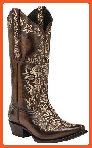 67fc1daa46b Black Star SWEETGRASS (Brown/Cream) Women's Cowboy Boots (11 ...