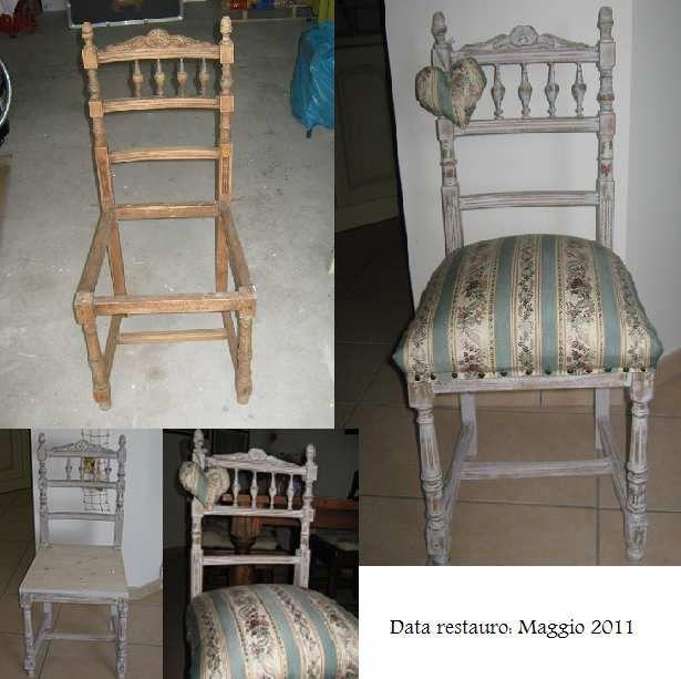 Restauro di una sedia in stile shabby restauro fai da for Sedie decorate a decoupage
