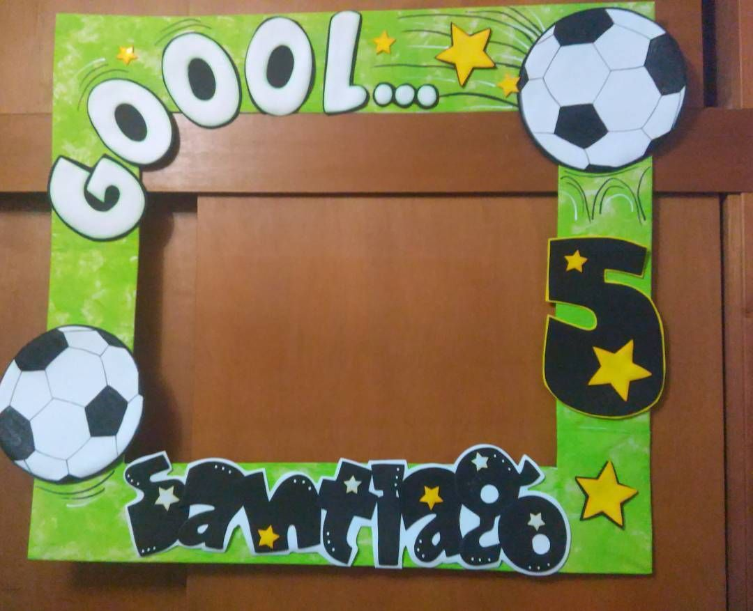Marco Para Selfie De Futbol Soccer Birthday Parties Soccer Birthday Boys Soccer Birthday Party