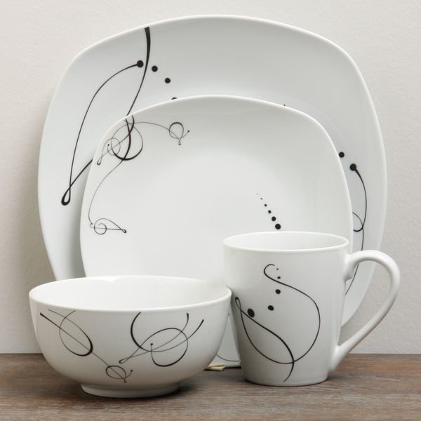 TTU Gallery u0027Pescarau0027 16-piece Dinnerware Set - Overstock™ Shopping - Great · Casual DinnerwareChina ... & TTU Gallery u0027Pescarau0027 16-piece Dinnerware Set - Overstock™ Shopping ...