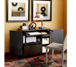 Incognito Ebony Compact Office In Filing Cabinets Carts