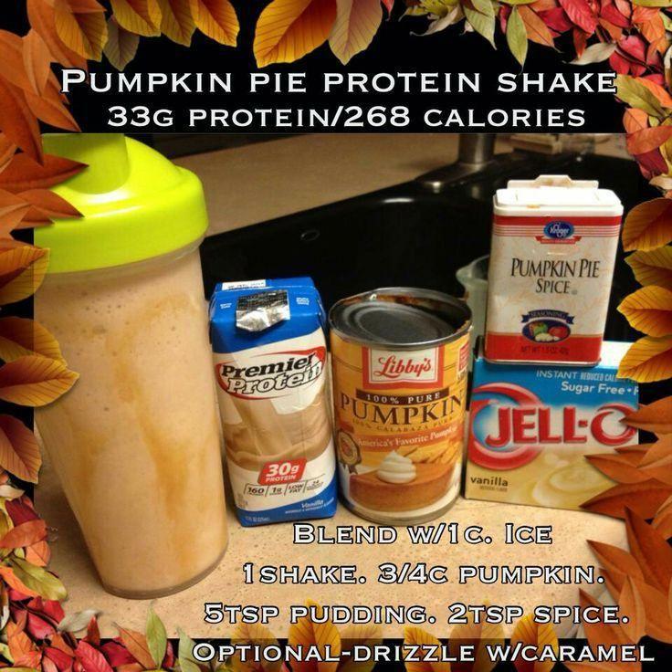 Pumpkin Pie Protein Shake #bariatricrecipes #proteinshakes