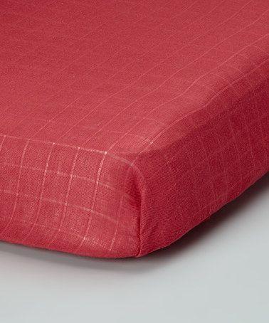 Terra Cotta Organic Muslin Crib Sheet By Bambino Land