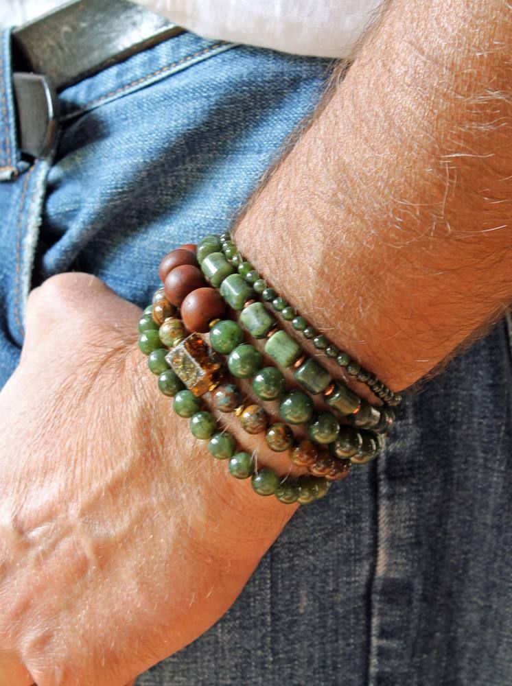 Xy Showing Off The Jade Eat Your Heart Out Johnny Depp Mens Bracelet Etsy Srajd