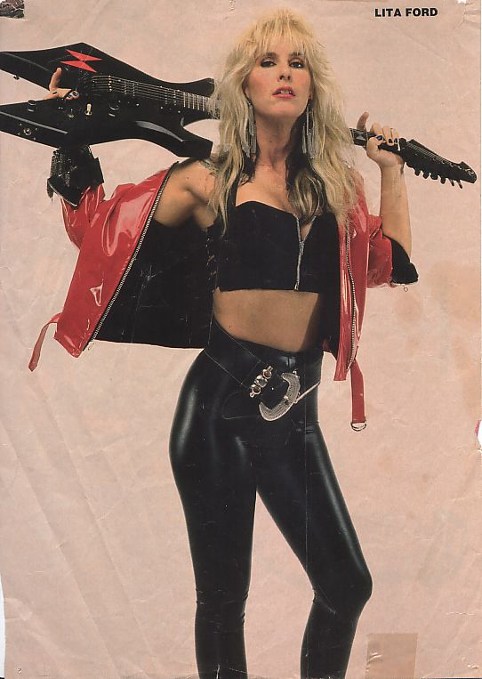 Lita Ford-I know the chances are slim to none but before I die I'd give anything to jam with Lita.