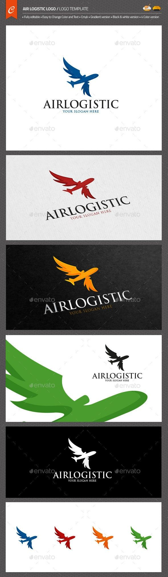 Air Logistic Logo Object Logo Design Template created by
