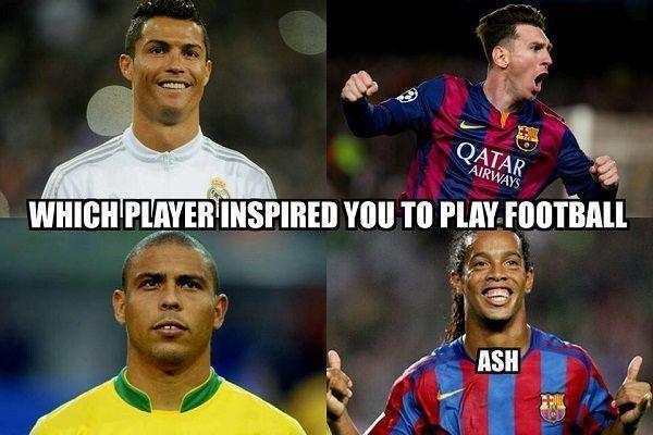 Brazylijczyk Ronaldo, Ronaldinho, Cristiano Ronaldo, Lionel Messi • Który piłkarz zainspirował Was do grania w piłkę nożną? • Zobacz >> #football #soccer #sports #pilkanozna