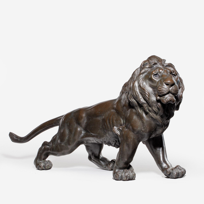 A Meiji bronze lion