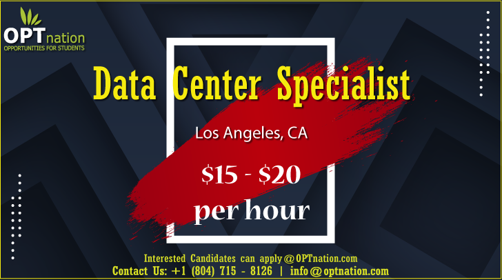 We Re Hiring Data Center Specialist In Los Angeles Ca In 2020 Security Solutions Job Posting Student Data