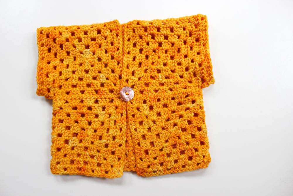 Pinteresting Projects: free simple crochet baby cardigan by Potter and Bloom on LoveCrochet