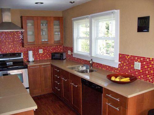 Ultra Modern Small Kitchen Glass Tile Backsplash Gallery Kitchen Inspiration Design Glass Tiles Kitchen Kitchen Design