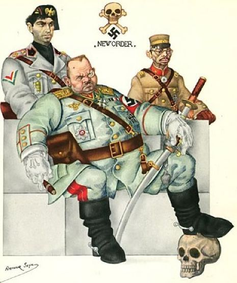 New Order, by Arthur Szyk. Cover of The New Order (New York, 1941), the first satirical anti-Nazi book published in the United States.