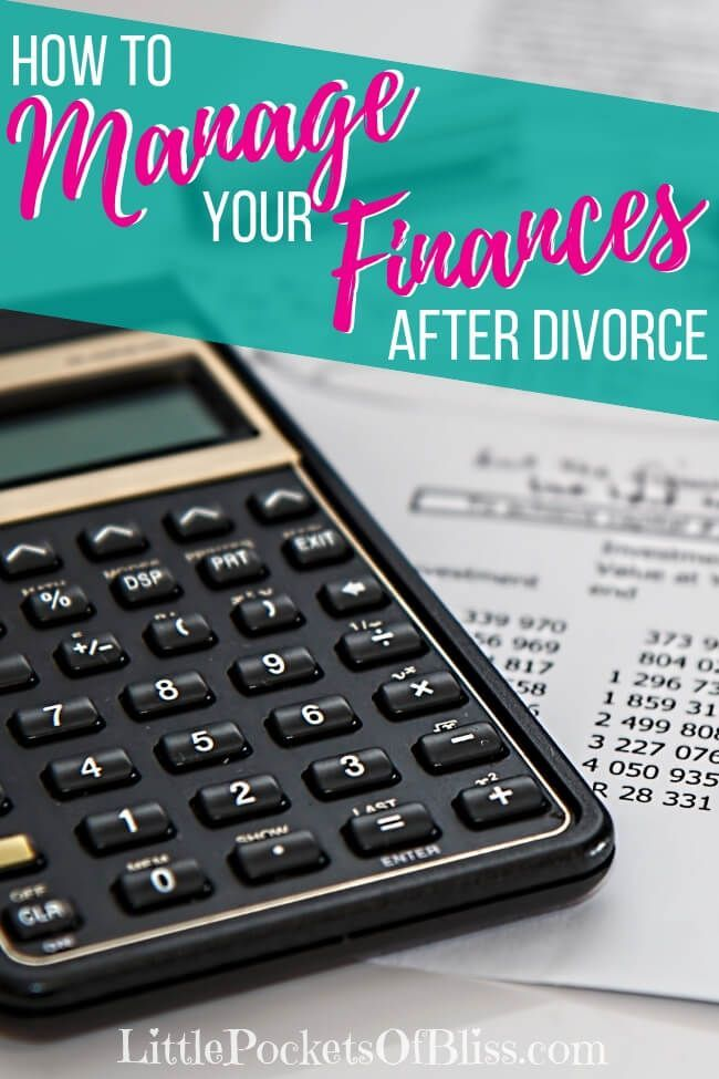 Managing finances after divorce