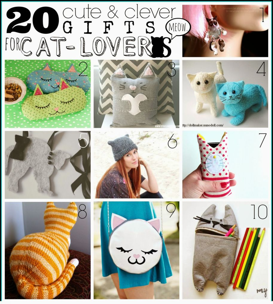 20 Handmade Gifts For Cat Lovers Indie Crafts Cat Themed Gifts Cat Lover Gifts Indie Craft