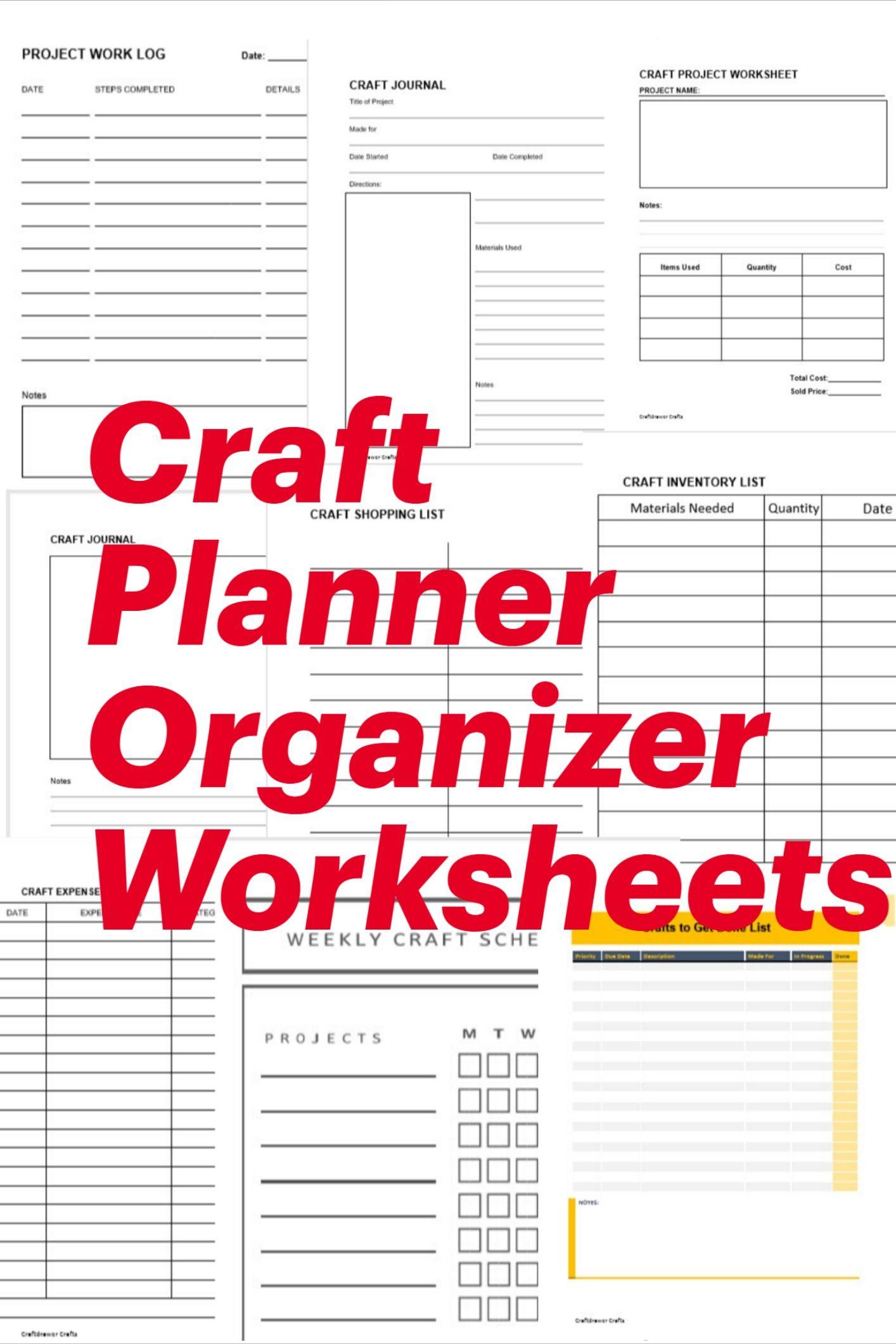 Craft Planner Organizer Worksheets Crafts In