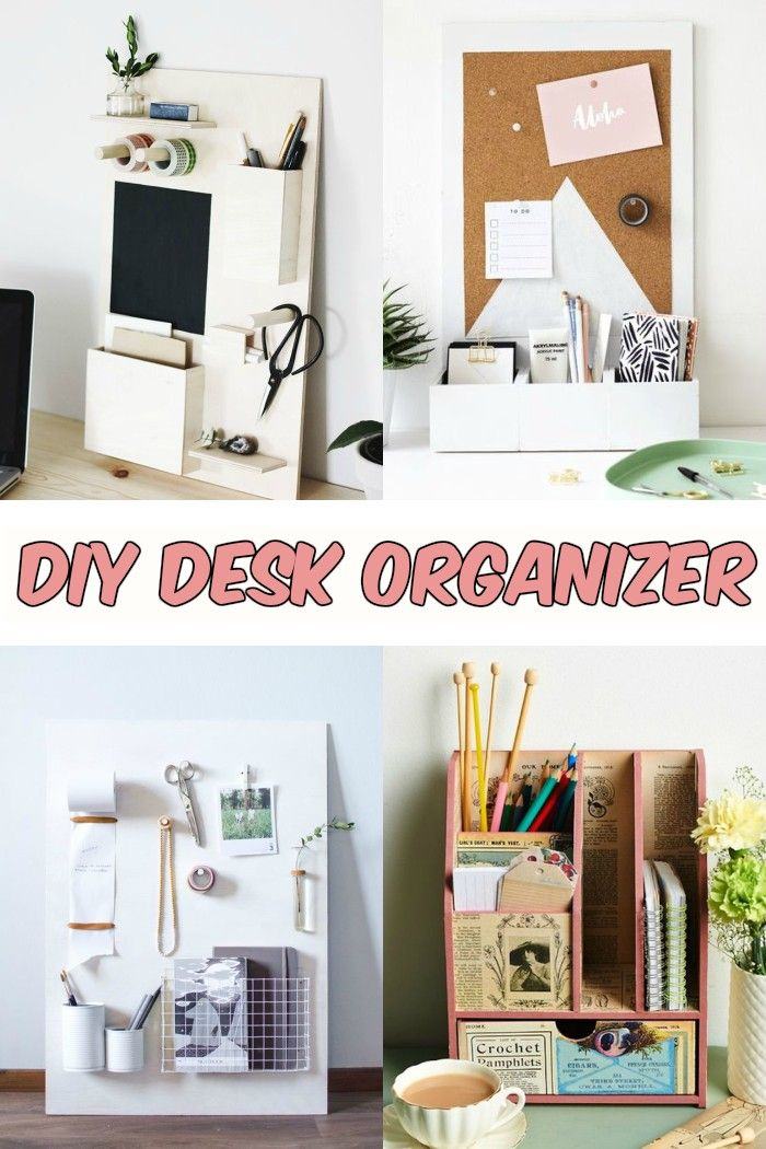 Keep Your Work Space Neat By Making A Simple Diy Desk Organizer