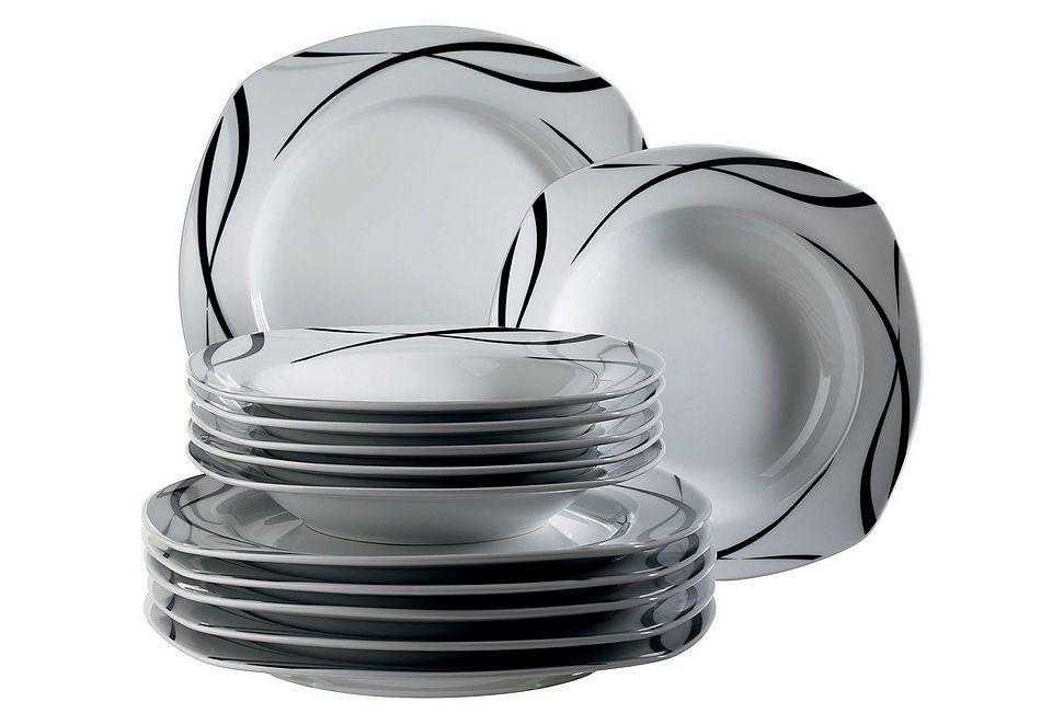 domestic tafelservice porzellan »oslo« 12teilig jetzt