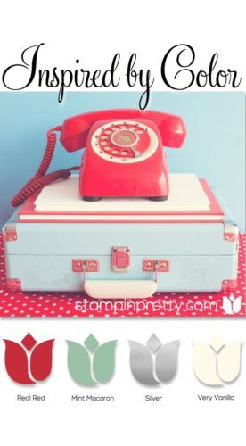 Inspired by Color Valentine's Day Card | Stampin' Pretty