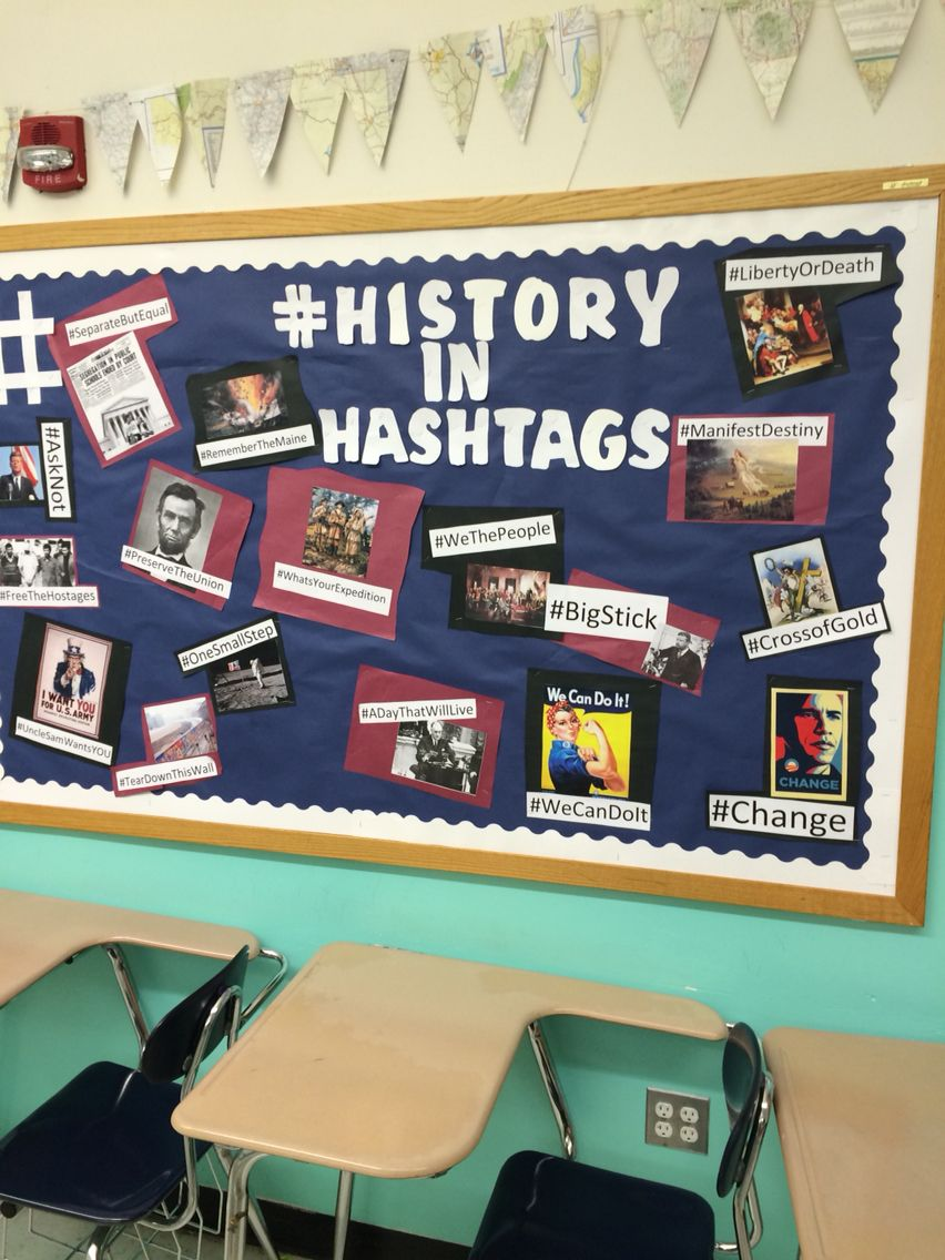History in hashtags high school history classroom