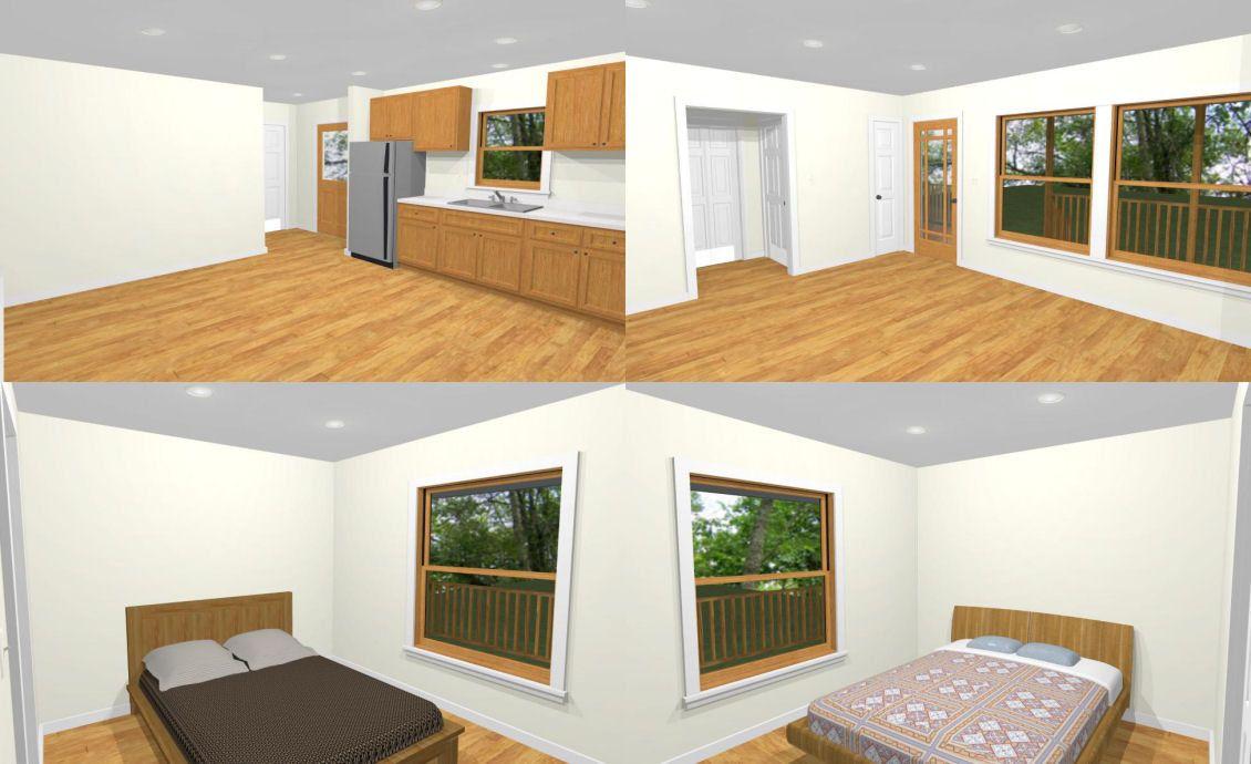 48x16 House 2Bedroom 2Bath 768 sq ft PDF Floor