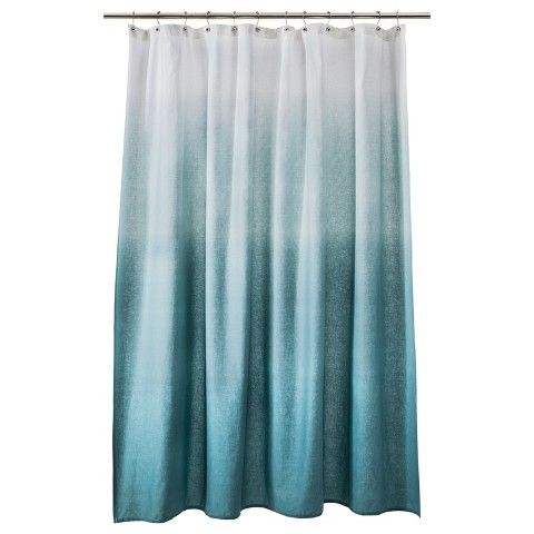 Ombre Shower Curtain Teal   Threshold™. Bathroom Shower CurtainsTarget ...