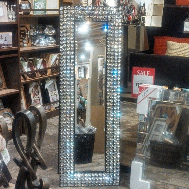 Bling Cheval Floor Mirror Glam Room Mirror Wall Decor Home