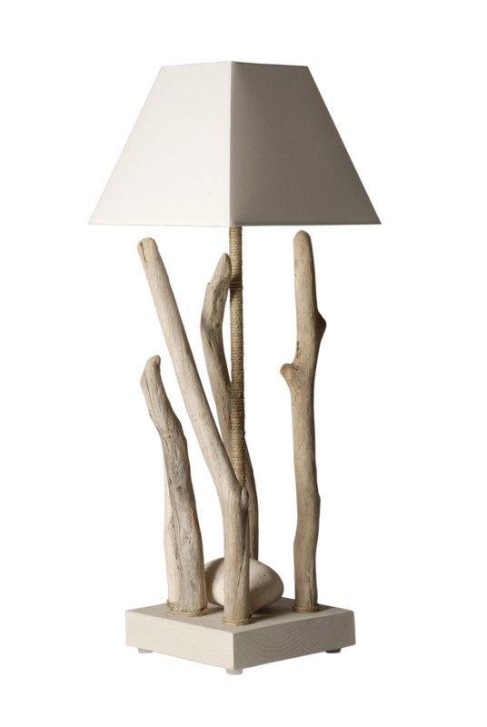Lampe  poser Nature bois flotté 65 cm