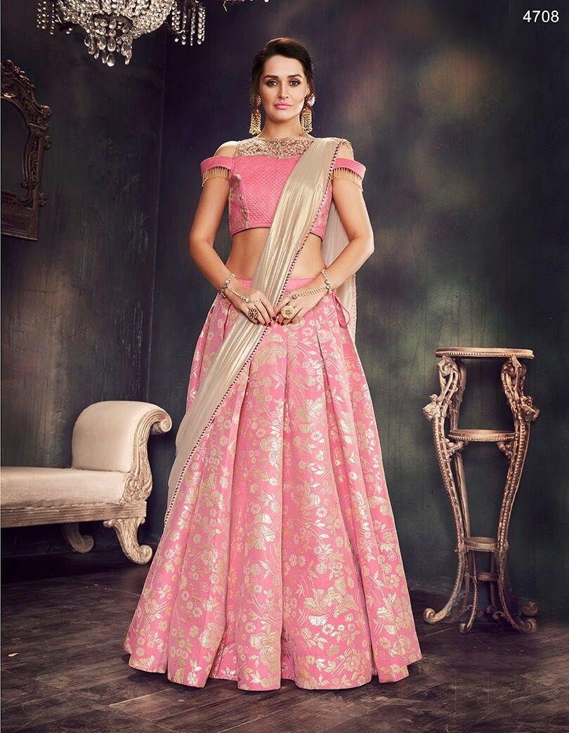 c6e9b8dabe Mahotsav Elegant Designs With Heavy Embroidery Pink Colour Lehenga. Design  No-4708. Lehenga-Fance Brocade. Blouse-Dhupiyan, Net Pink Colour.