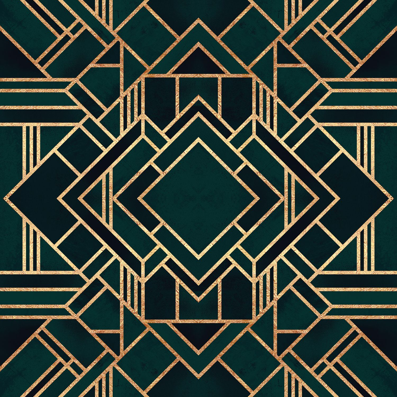 Art Deco Ii Canvas Art By Elisabeth Fredriksson