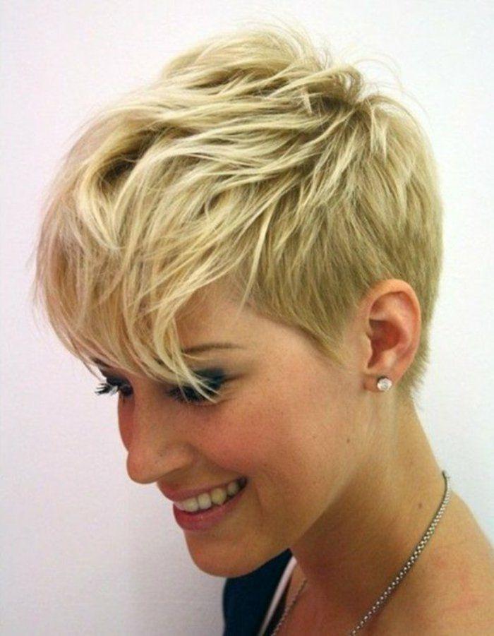 Favori coiffure courte cheveux blond, les dernieres tendances chez les  OT61