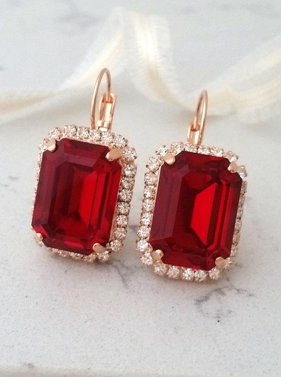 long teardrop spanish tile earrings red+gold enamel epoxy earrings Sangria red spanish tile drop dangle earrings red marsala earrings